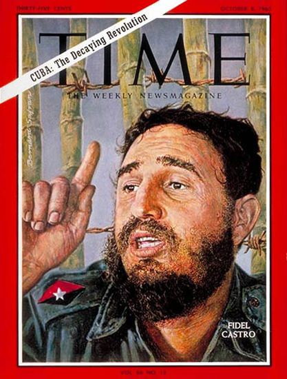1965-10 Fidel Castro Cuba Copyright Time Magazine - www.MadMenArt.com | Our favorite Vintage Magazine Covers from 1891 to 1970. A timeline of cover personalities and historic events. #Vintage #Magazine #Covers #Ads #VintageAds #MagazineCovers