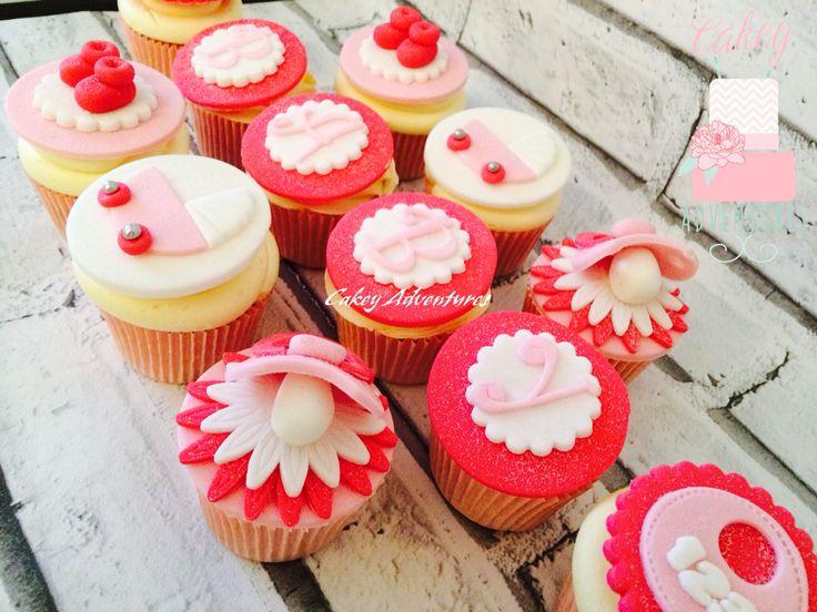 Baby girl cupcakes x