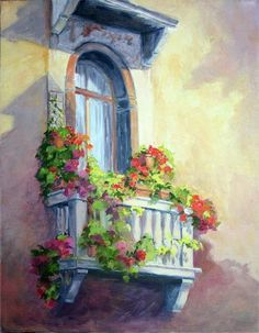 Venice Balcony  By Vikki Bouffard