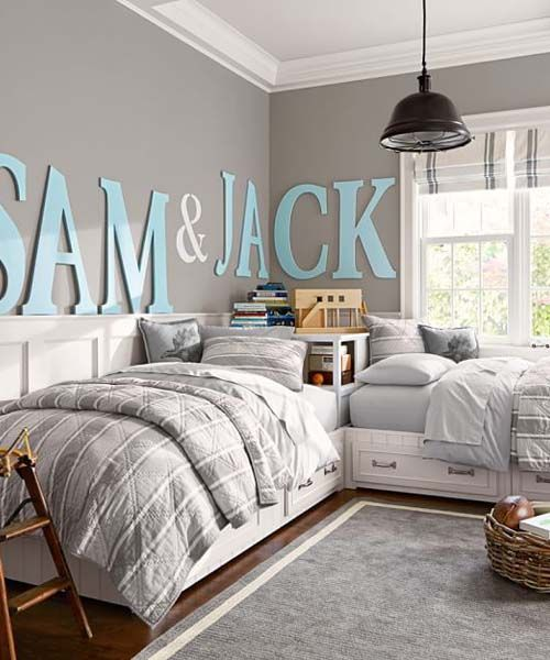 Picture Of cool shared teen boy rooms decor ideas  6