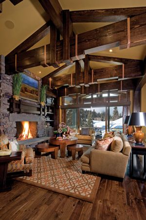 21 best images about mantels and fireplace surrounds on - Lodge living room decorating ideas ...