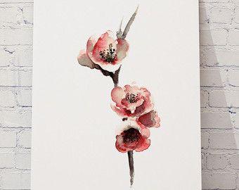 Rosa Flamingo-Set 3 Kunstdrucke Flamingos von ColorWatercolor