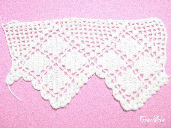 Crochet border Handmade lace trim Filet crochet by CreArtebyPatty