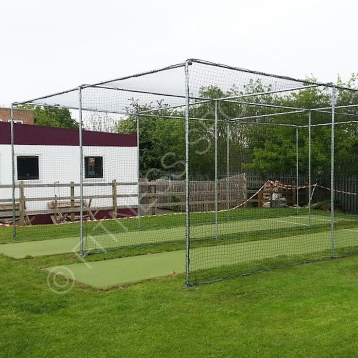 Our Full Height County Spec Ground Fixed Steel Cricket Cage Net Cage.  Designed Specifically For