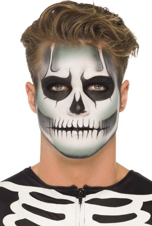 Kit de maquillaje esqueleto fosforescente adulto Halloween: Kit de maquillaje de…