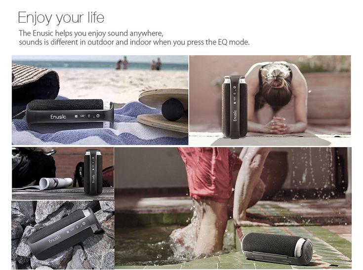 Enusic® Soundcup Bluetooth Outdoor Speaker With EQ Mode Waterproof NFC 20w Output UP To 8H Playtime