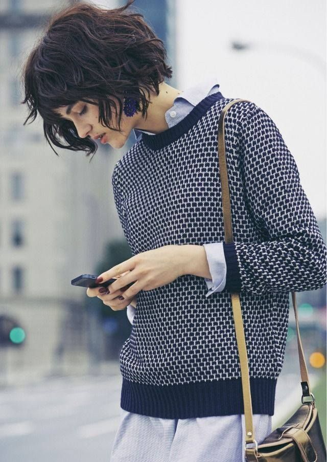 Cute layering idea + short bob haircut