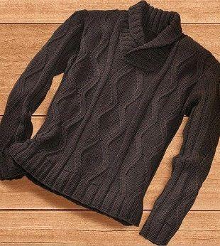 Связать мужской пуловер