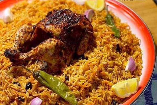 طريقة عمل الفراخ المشوية في الفرن مع الرز البخاري Food Pork Chicken