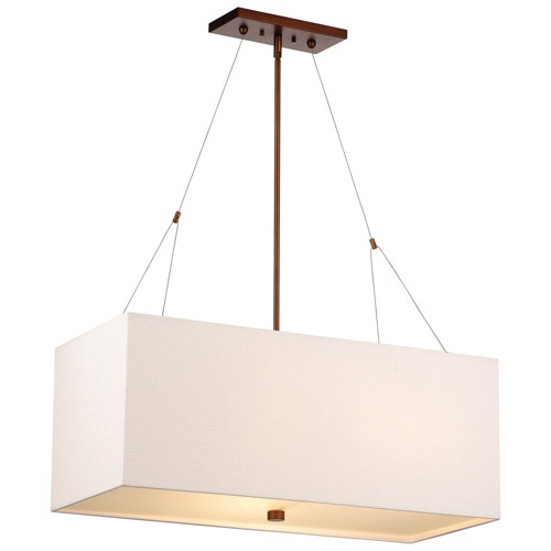 dining room: Alexis 3 Light Rectangular Pendant Light ($450)