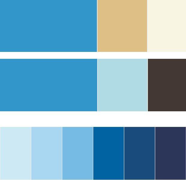 Combinar azul colours paleta color pinterest - Colores que pegan con el azul ...