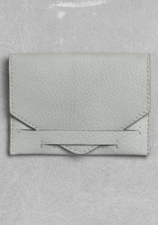 Leather Card Holder | Powder Grey | & Other Stories