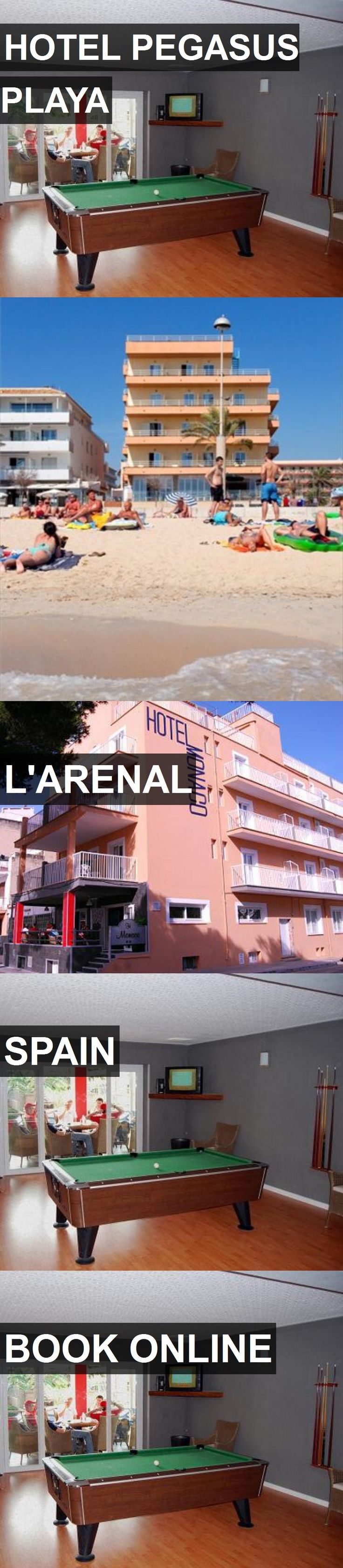 HOTEL PEGASUS PLAYA in L'Arenal, Spain. For more information, photos, reviews and best prices please follow the link. #Spain #L'Arenal #travel #vacation #hotel