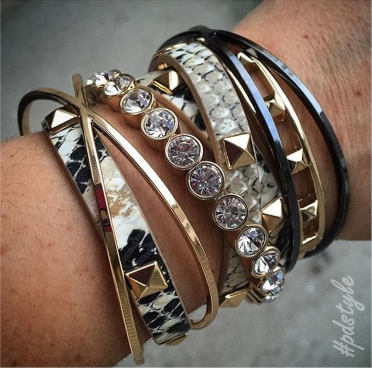 Mix and match your metals for a dynamic #pdarmparty!