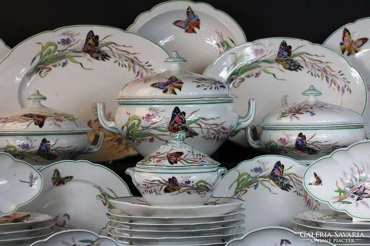 Antik Múzeális 1880-ból! Francia  Limoges porcelán étkészlet