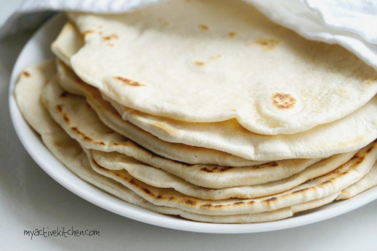 Homemade Shawarma Bread (Flour Tortilla