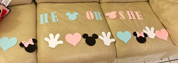 Disney gender reveal banners