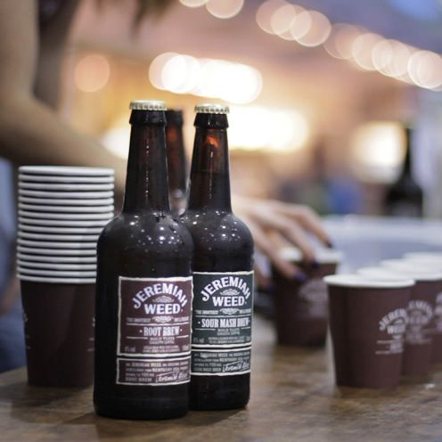 Jeremiah Weed have been popping up all over the shop with their ginger tinged 'root brew', and delectable bourbon infused 'sour mash brew'. Love the Root Brew!