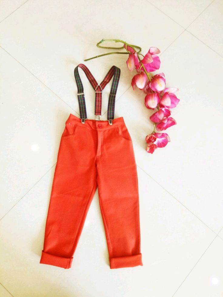 Rust Magic Pants with Suspenders at Foreverkidz