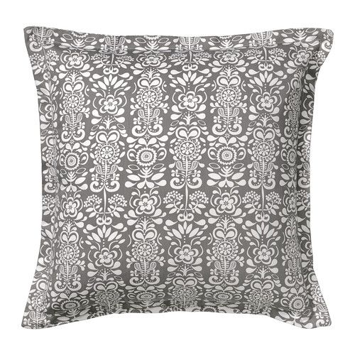 ÅKERKULLA Cushion cover, gray/white