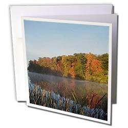 "Sandy Mertens Wisconsin - Chain of Lakes in Autumn - Greeting Cards-6 Greeting Cards with envelopes by Sandy Mertens. $10.49. Chain of Lakes in Autumn Greeting Card is a great way to say ""thank you"" or to acknowledge any occasion. These blank cards are made of heavy duty card stock with a gloss exterior and a matte interior for smudge free writing. Cards are creased for easy folding and come with white envelopes. Available in sets of 6 and 12.. Save 28%!"