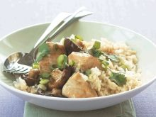 A quick and tasty recipe for chicken with lemon rice. Gluten Free