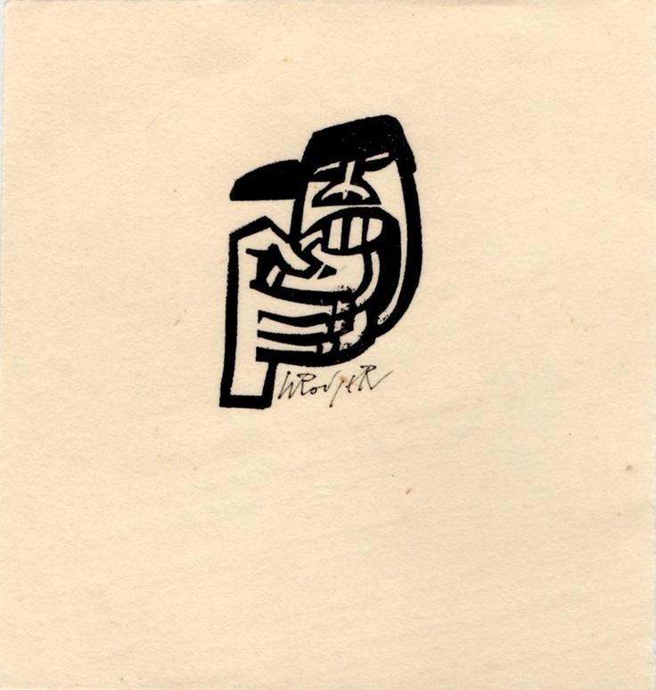 Wee Pie  Willie Rodger  Lino cut print