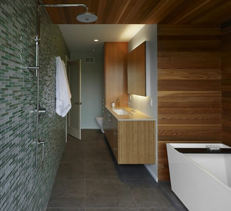 pared cuarto bao diseno madera