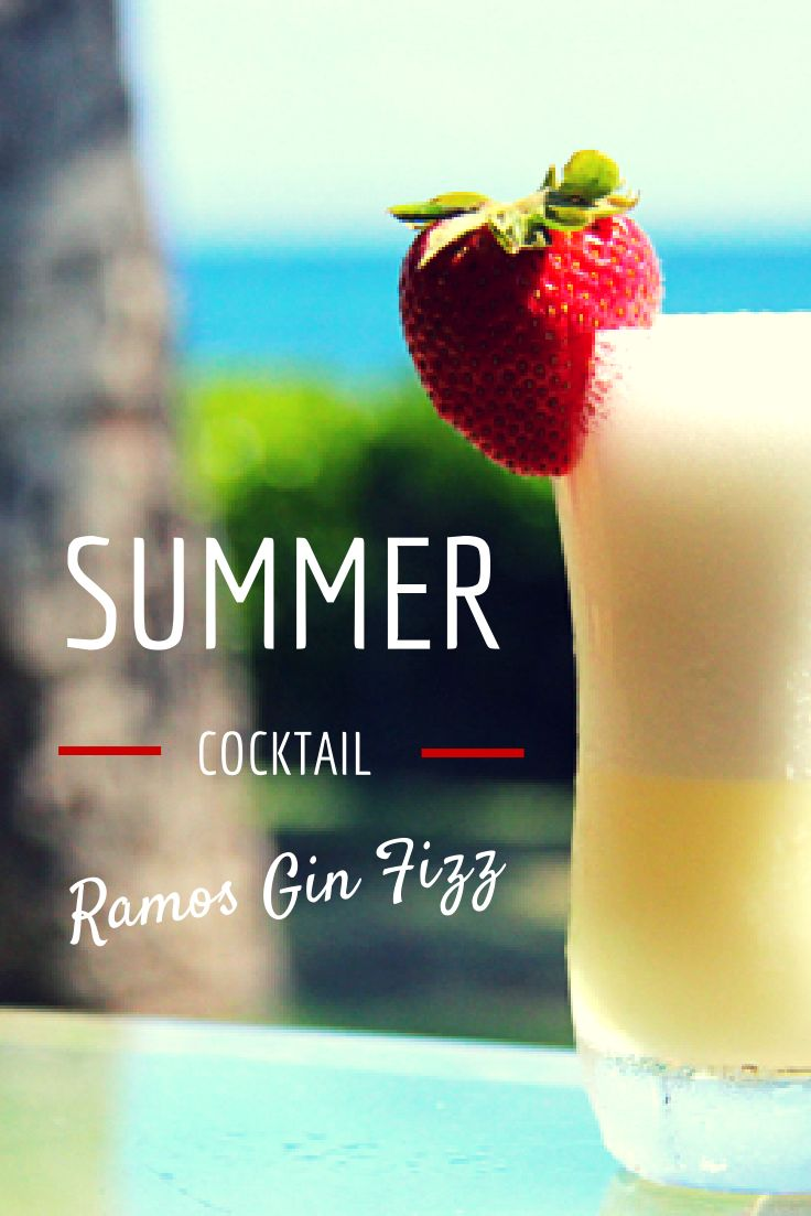 This is an old school brunch cocktail, invented back in 1888. I guess you say the Ramos Fizz is an authentic antique!