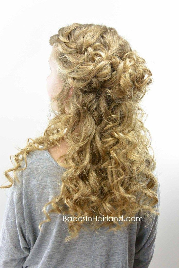 Half-Up Style for Curly Hair from BabesInHairland.com #curls #curlformers #hair #hairstyle