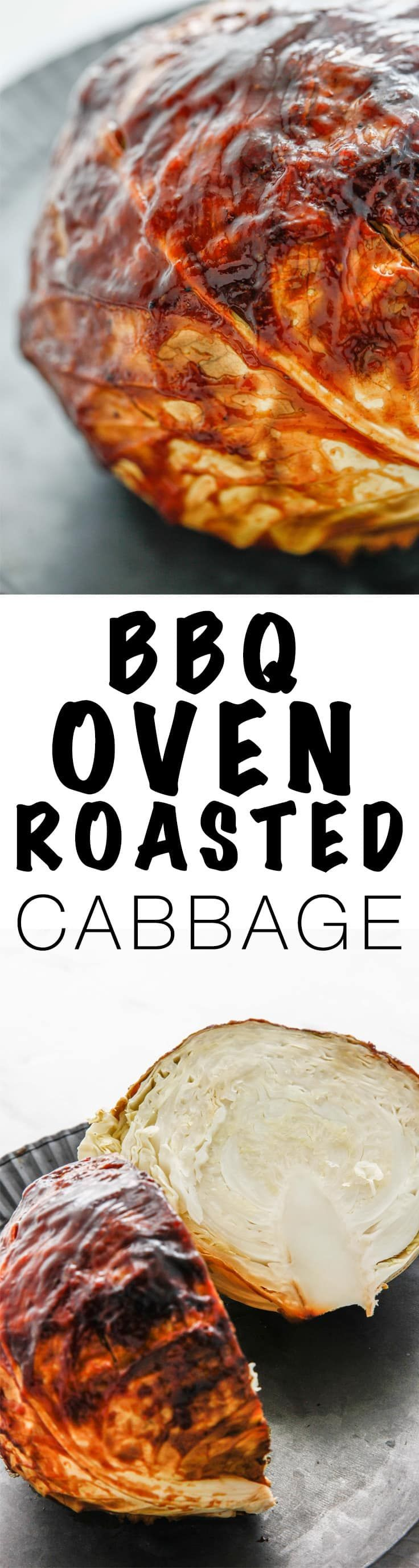 Make something different at your barbecue this summer with this BBQ Oven Roasted Cabbage recipe that is a new take on a boring vegetable! via @thebrooklyncook