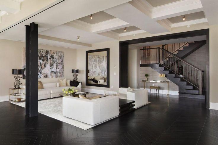 Kontrasztos modern nappali - nappali ötlet, modern stílusban
