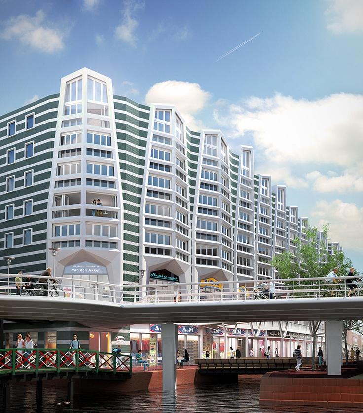 Midden in het nieuwe stadshart van Zaanstad - de appartementen in nieuwbouwproject Zaantoren. Kom kijken tijdens de Zaanse Nieuwbouwdagen 11 en 13 april 2013.