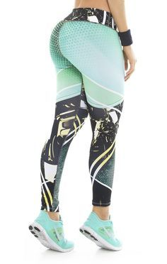 These beautiful printed compression leggings that are sure to become your go-to workout pants. The luxe fabric moves & stretches with you while the think flat waistband keeps your belly flat and comfo