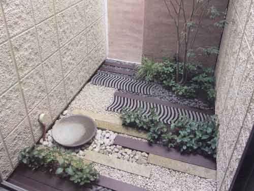 和風坪庭プラン 外構工事 堤造園土木