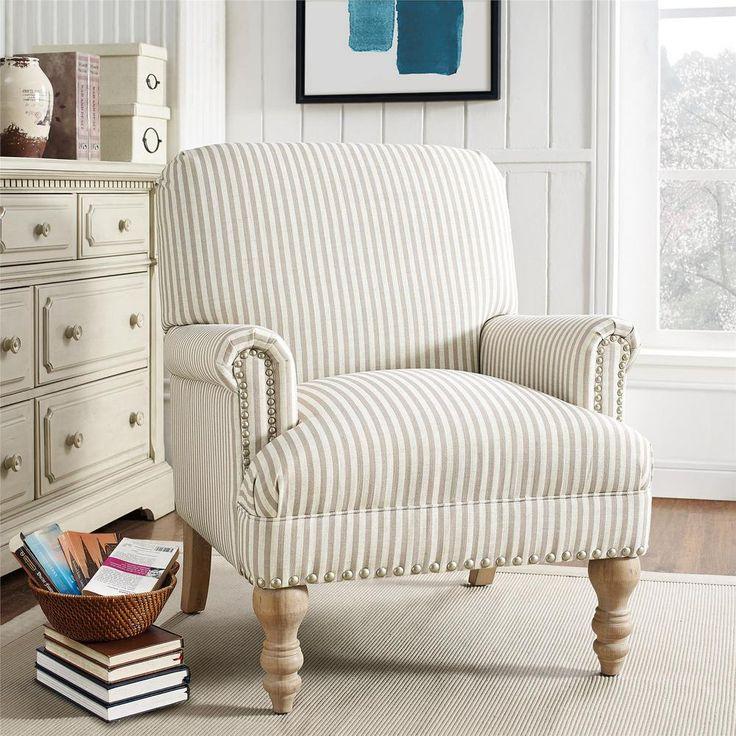 Dorel living joy beige upholstered accent chair fh7902