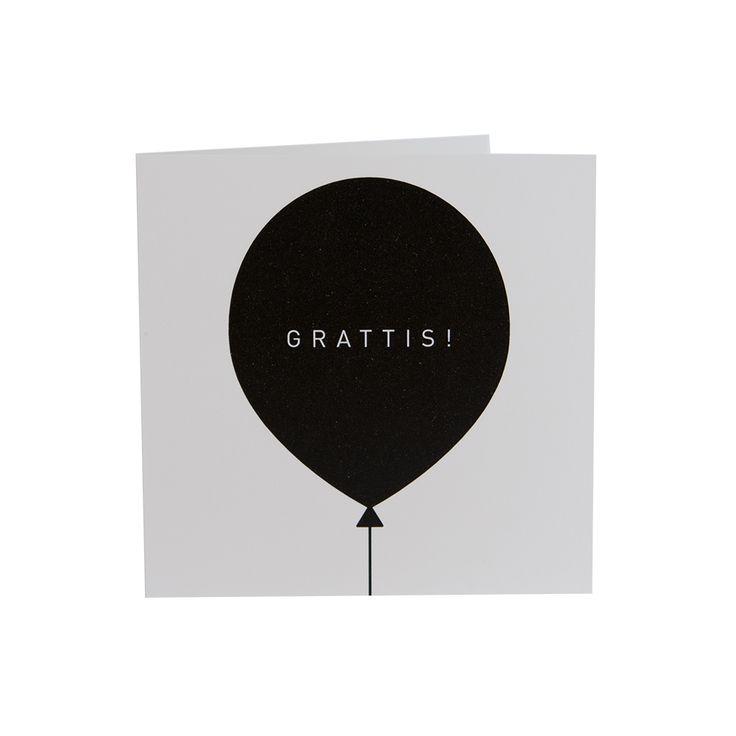 Grattis Ballong, kort