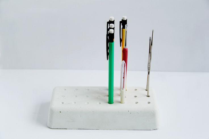 DIY Concrete Desk Tidy | Fall For DIY