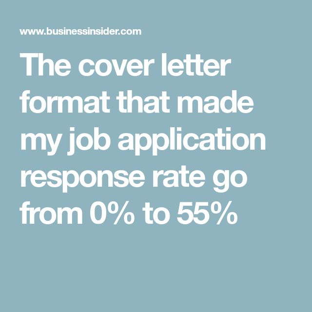 The cover letter format that made my job application response rate go from 0% to 55%