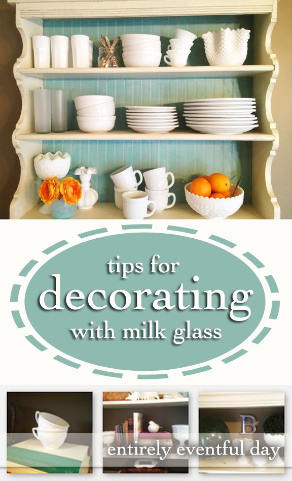 DIY:: Tips & #DIY Ideas For Decorating with Milk Glass ! by @Aly Brooks {entirelyevenfulday.com}