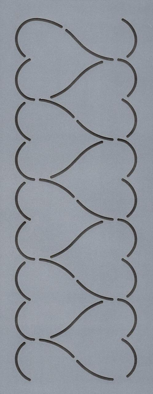 """Heart Border 3"""" - The Stencil Company"""