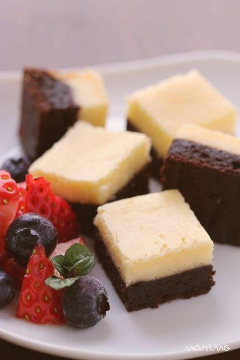 バレンタインに★ チーズケーキブラウニー♪ : marimo cafe