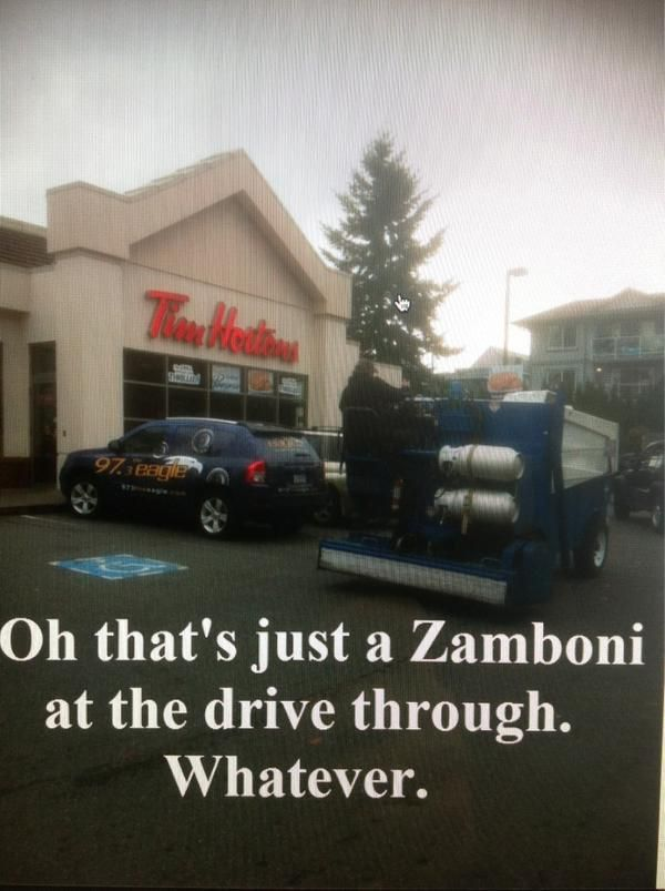 I admit...I was more excited about the Tim Hortons sign but whatever.