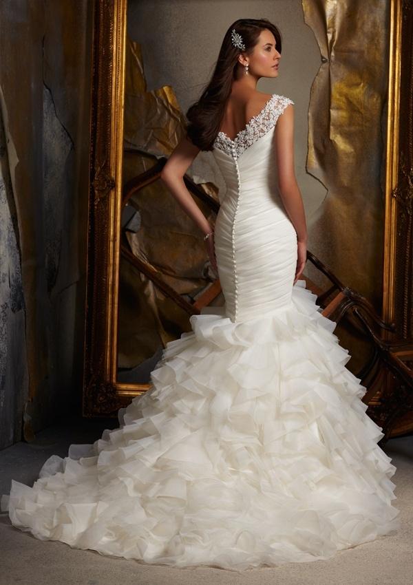 Wedding Dresses Mermaid Ruffles : Ruffle wedding dresses mermaid gown bridal