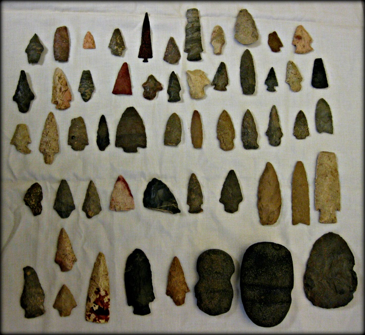 Arrowheads - Jon Lander - found by my great grandfather in the vicinity of Kickapoo, KS late 1800s early 1900s, IIRC.  One of them is metal.  Really wild to think that maybe several hundred years ago a Kansa or Plains indian/native American was walking around wondering where this one landed.