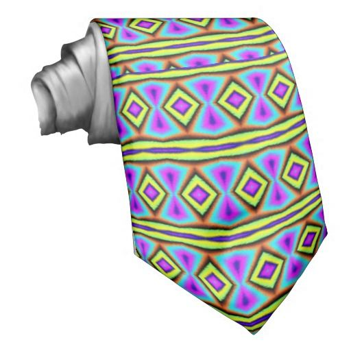 Colorful abstract pattern neckties
