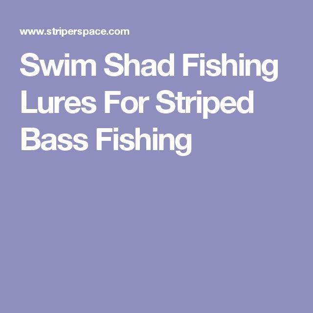 Swim Shad Fishing Lures For Striped Bass Fishing