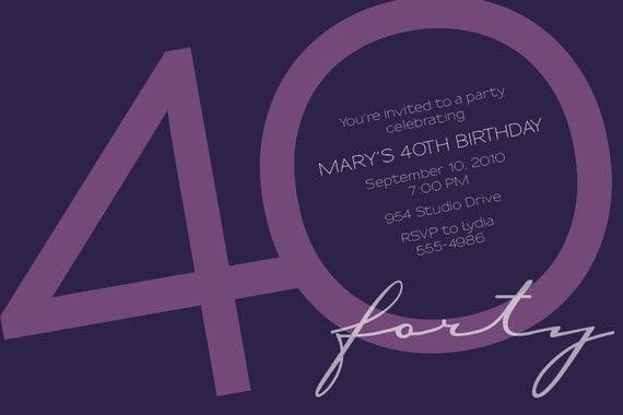 The most popular birthday party invitation for adult milestone birthdays . . . 30th, 40th, 50th, 60th, etc. . . .