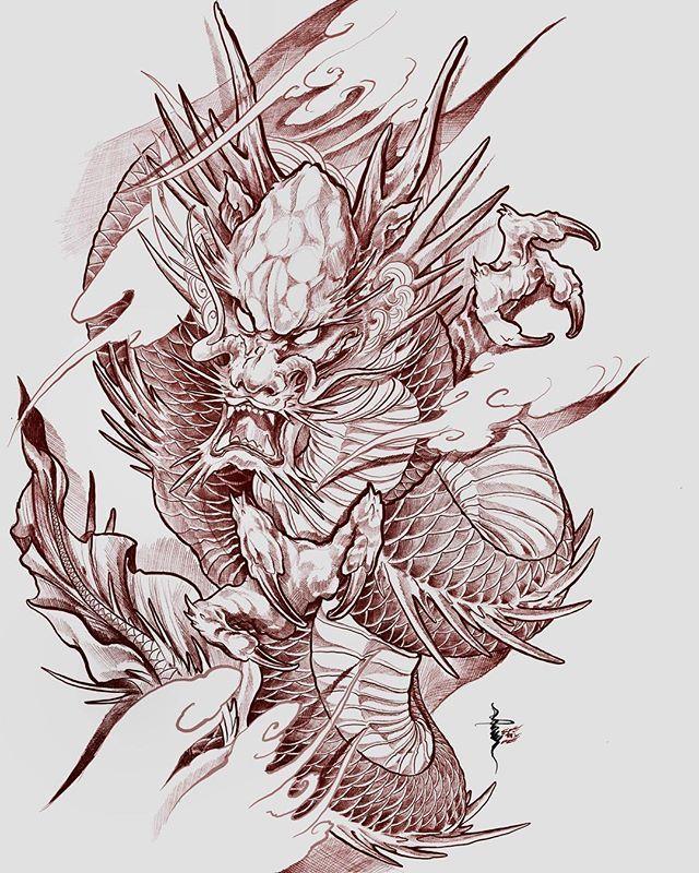 Dragon Design Finish Dragons Sonneetattoo Dragontattoo Japanesetattoodesign Asiantatt Dragon Tattoo Sketch Dragon Sleeve Tattoos Japanese Dragon Tattoos