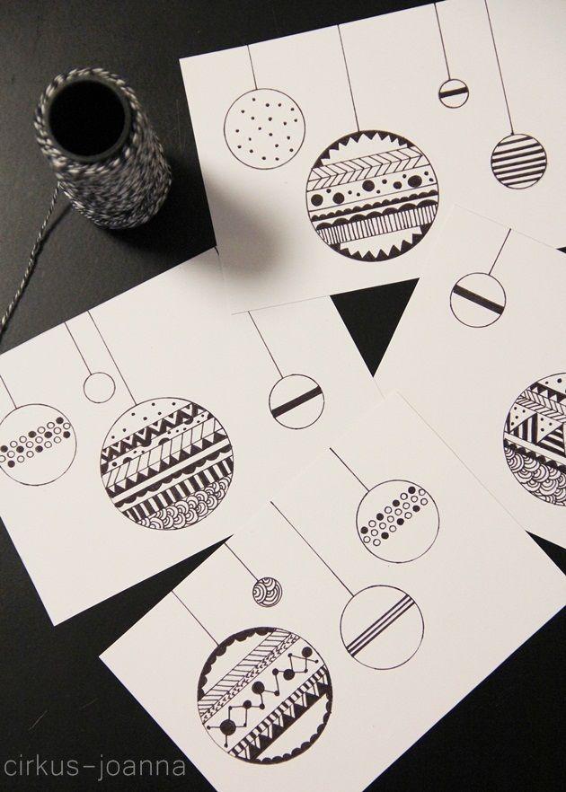 DIY - joulukortit piirtäen // DIY - X-MAS cards http://cirkus-joanna.blogspot.fi/2014/12/diy-joulukortit-piirtaen-diy-x-mas-cards.html